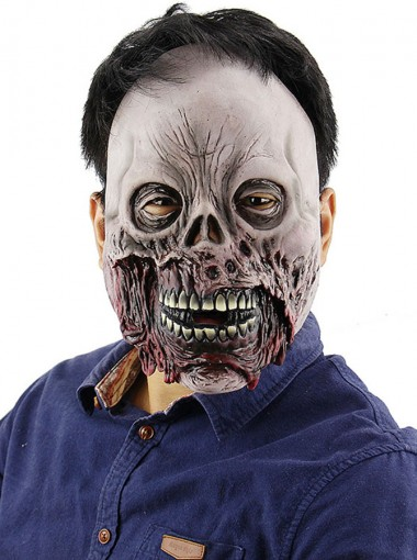 Really Scary Halloween Masks Creepy Face Adult Grey Halloween Masks