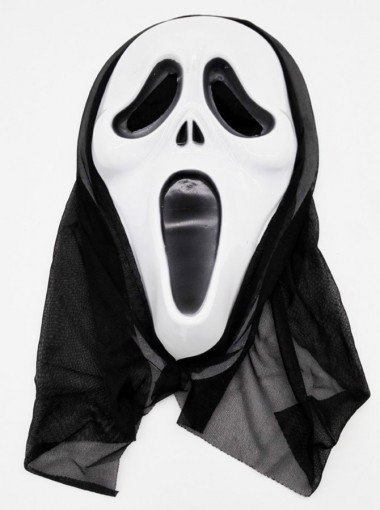 Cool Halloween Masks White Ghost Scream Face Plastic Halloween Mask