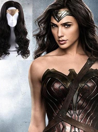 Wonder Woman Diana Ringlet Wig Halloween Cosplay