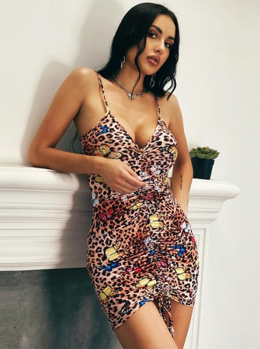Leopard Printed Bodycon Dress
