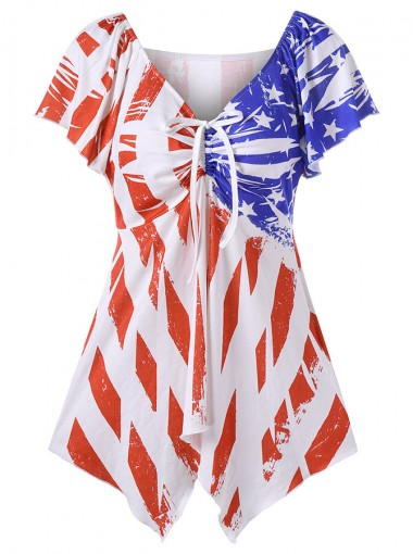 Star Striped July of 4th Patriotic T-Shirt