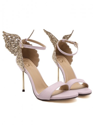 Ankle Strap Gold Butterfly Wedding High Heels Sandals