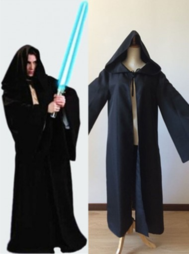 Star Wars Black Cotton Halloween Costume for Adult