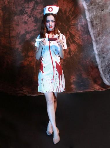 Terror Zombie Nurse Uniform Halloween Ghost Costume