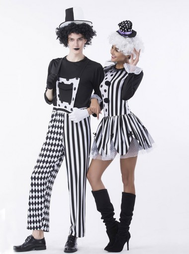 Couples Costumes Adult Twisted Trickster Clown Costume Scary Clowns Group