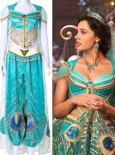 Princess Jasmine 2019 Movie Aladdin Halloween Cosplay Costume