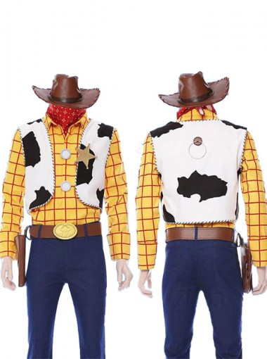 Disney Pixar Toy Story 4 Woody Cosplay Costume