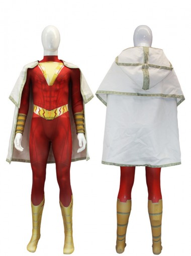 Shazam Billy Batson Outfit Cosplay Costume