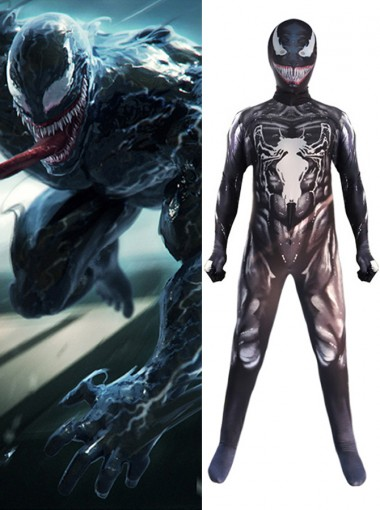 Venom Symbiote Fullbody Spiderman Costume Spandex Zentai Suit