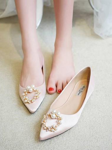 Plat Heels Women's Party Shoes Bridal Shoes