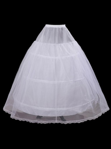 White A-line Slip Women Wedding Petticoat/Cirnoline