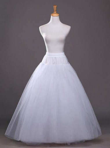 White Hoopless Bridal Wedding Dress Petticoats/Cirnoline
