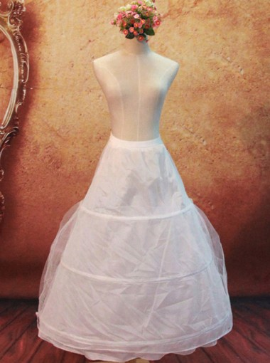 White One-tier A-line Slip Wedding Dress Petticoats/Underskirt