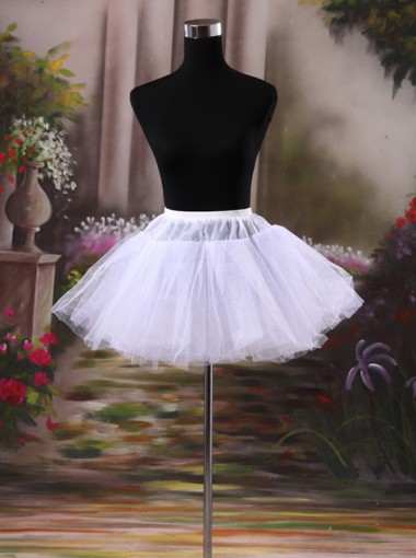 Bridal Short White Hoopless Petticoats Princess Dress Short Cirnoline
