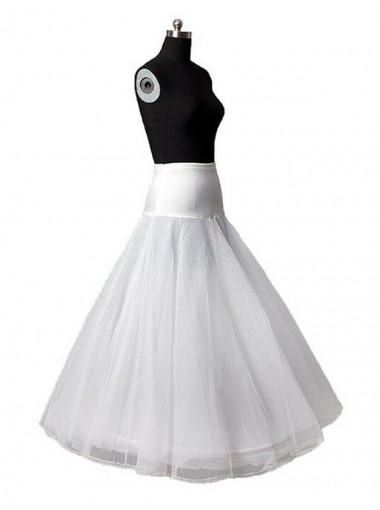 White Bridal Petticoat for A Line Bridal Wedding Dress