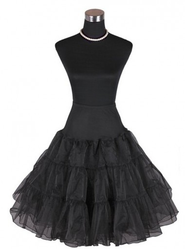 Women 50s Vintage Rockabilly Petticoat Skirt Knee-length Tulle