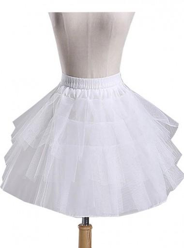 Bridal Casual Cos Lolita Hoopless Short Crinoline Petticoats Slips Underskirt