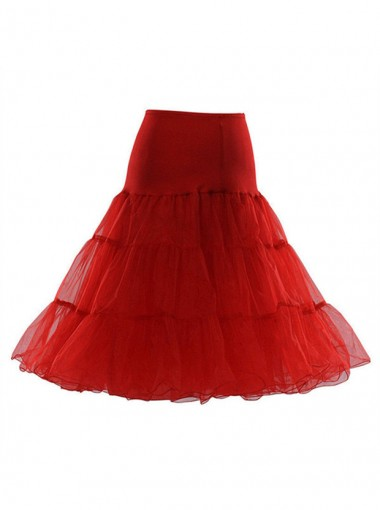 Red Short Flare Slip Women Prince Dress Petticoats/Underskirt