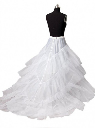 White Women Petticoat Mermaid For Wedding Dress Bridal Crinoline