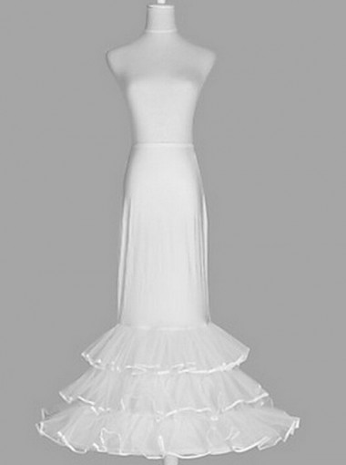 Medium Full Mermaid Bridal Crinoline Wedding Slip Skirt