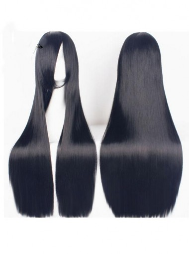 Long Cosplay and Costumes Long Black Straight Wigs