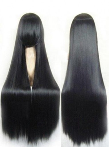 Hot-Selling Long Straight Black Cosplay Wigs