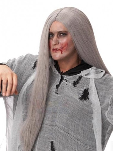 Zombie Halloween Cosplay Long Straight Hair Wig