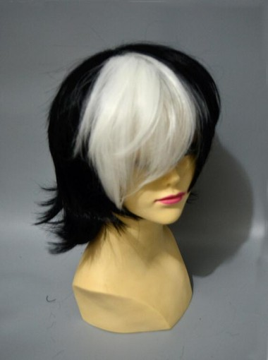 Youth Black Jack Black and White Horsetail Cosplay Wigs