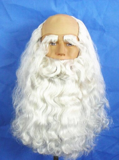 White Santa Beard Wigs Halloween
