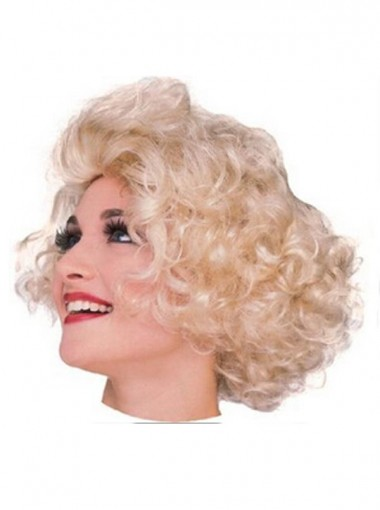 Marilyn Monroe Gold Short Cospaly Wigs