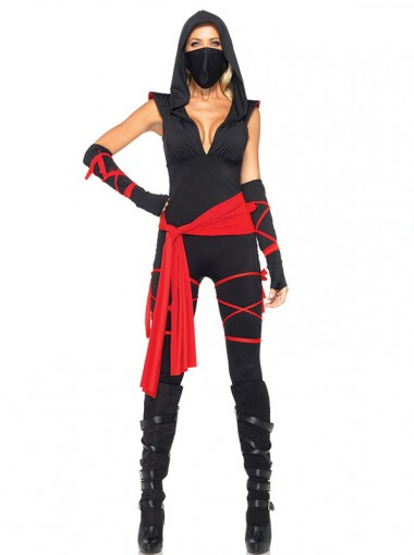 Ninja Women 's Custome Black Halloweeen  Game Cosplay