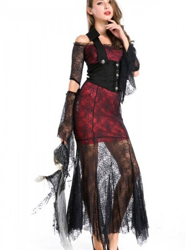 Noble Vampire Costume Suit Long Dress Fancy Dress Cosplay Costume for Women