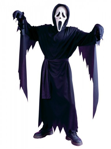 Child Classic Ghost Face Scream 4 Fancy Dress Halloween Costume