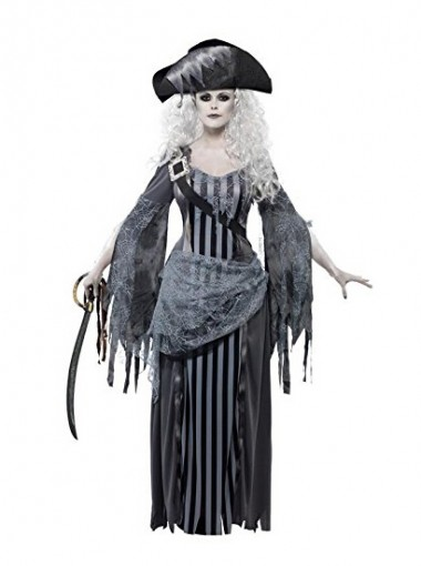 Smiffy's Ghost Ship Princess Costume with Dress and Hat - Small