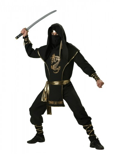 Ninja Warrior Elite Collection Adult Costume For Men With Maked