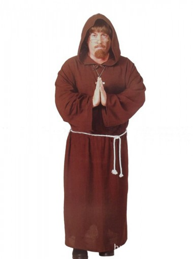 Halloween Costumes Adult Mens Priest Medieval Monk Christian Missionary Costume