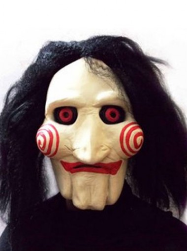 KingMas Saw Movie Jigsaw Puppet Mask Halloween Full Mask