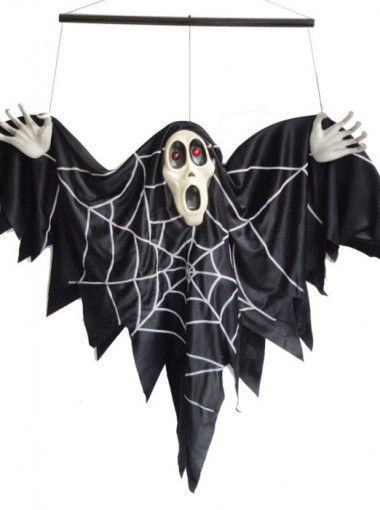Halloween Ghost/Sound Activated Light Hanging Bat Ghost