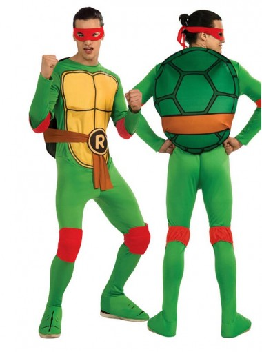 Hot-selling Nickelodeon Ninja Turtles Adult Michelangelo Costume and Accessories
