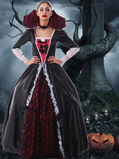 Halloween Costume Dress Female Vampire Zombie Masquerade Party Queen Ghost Bride Clothes