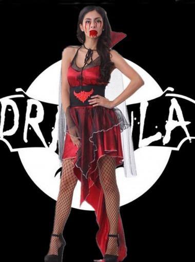 Halloween Costume Cosplay DS Playsuit Bull Demon King Uniform Devil Dress