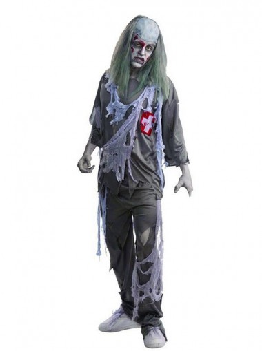 Grey Suit Zombie Doctor Halloween Costume