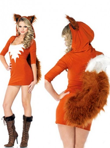 Fox Animal Cosplay Dress Witch Halloween Party