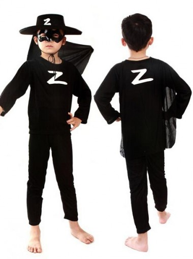 kids Zorro Costume Halloween Cosplay