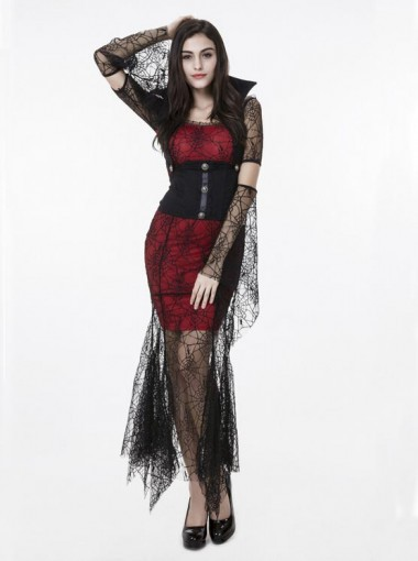 Female Dinv Demon Vampire Spider Black Dress