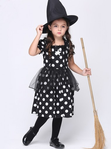 Kid's Long Witch Costumes for Halloween