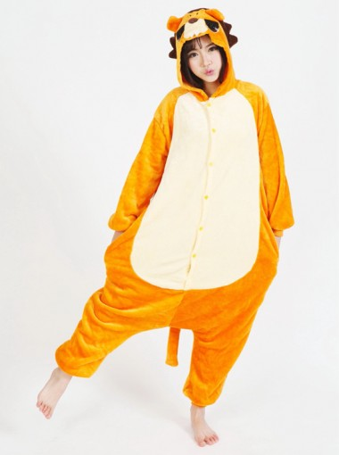 New Style Flannel Lion One-pieces Women Pajams Sleepwear