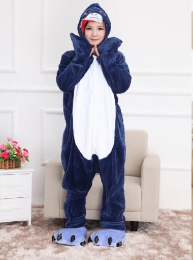 New Style Flannel Shark One-piece Women Pajamas Sleepwaer