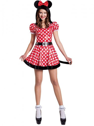 Red Minnie Mouse Glam Plus Size Costume For Women