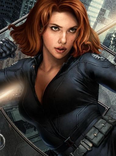 Marvel Avengers Endgame Black Widow Natasha Romanoff Brown Cosplay Wig